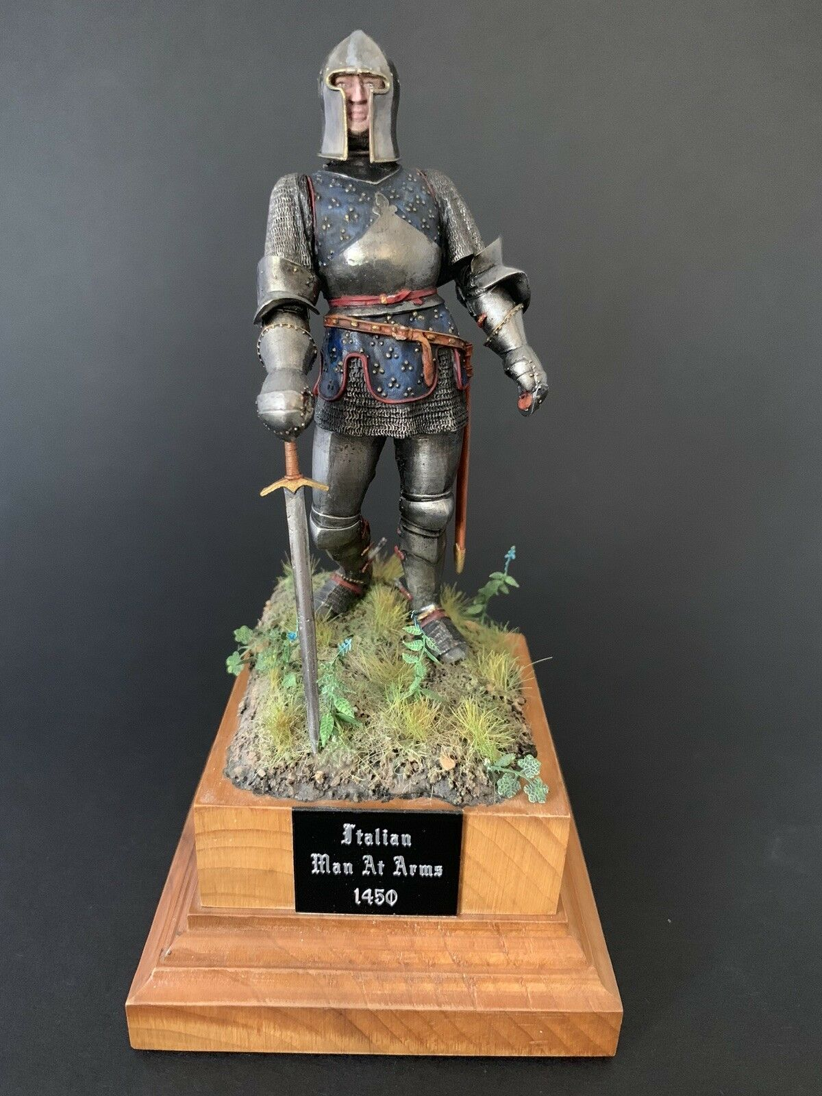 90mm Model soldier Of An Italian Man At Arms By pegaso