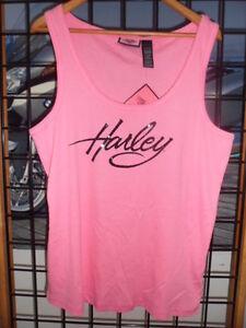 NOS Harley Davidson WomenS Pink Embellished Sleeveless Tank Shirt 99118-12VW