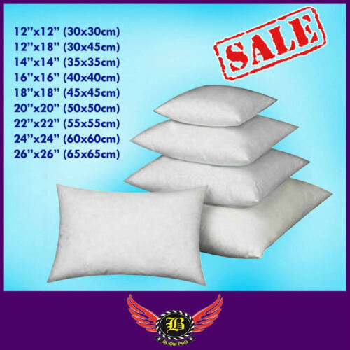 Boom Pro Cushion Pads Inners Filled Hollow Fillers Fibre Quality Pillow Inserts