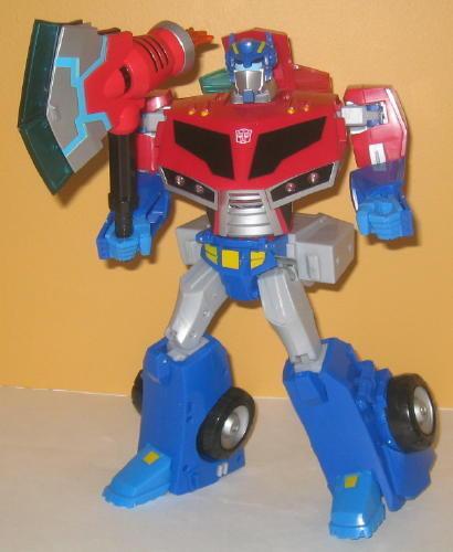 Transformers Animada Roll Out Comando Optimus Prime Completo