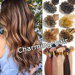Extensions-de-Cheveux-Keratine-Cheveux-humains-Pose-a-Chaud-1g-100-naturels-REMY