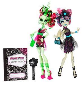 Mattel-Monster-High-Rochelle-Goyle-amp-Venus-McFlytrap-ZOMBIE-SHAKE-BJR17-USA-OVP