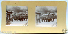 photo stéréoscopique .Suisse. station de chemin de fer de la Zungfrau. vers 1900