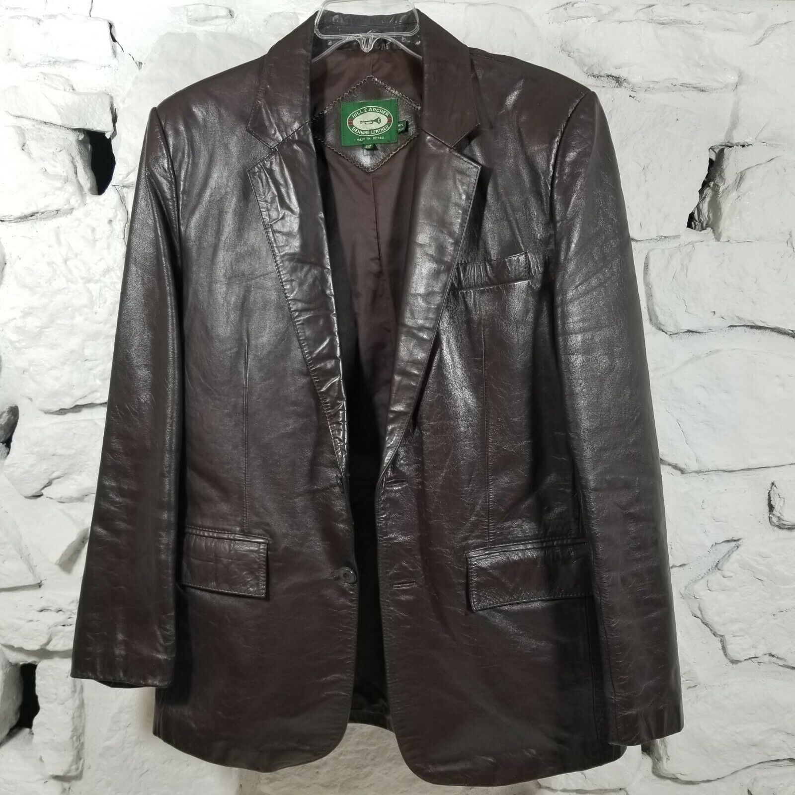 Hill & Archer Mens Sz 42 Brown Genuine Leather Bl… - image 1