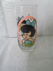 VINTAGE 1986 Pizza Hut The Flintstone Kids Glass-Betty