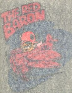 The red baron vintage 70s iron on t shirt transfer full for 70 s t shirt transfers