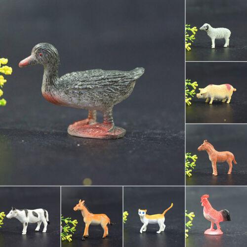 Anni 4-6cm Mobern // Fattoria Animali Personaggi Plastica 12 Pezzi Giocattolo 3