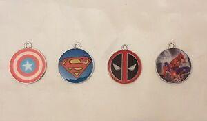 Spiderman-Superman-Cpt-America-Deadpool-Enamel-Metal-Charms-Party-Bag-Fillers