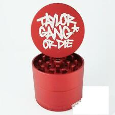 "Medium 2.2"" Red Taylor Gang Santa Cruz Shredder Aluminum Herb Grinder 4 Piece"