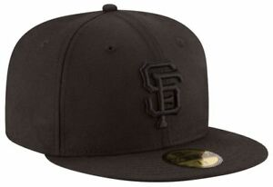 b642adf9 Details about SAN FRANCISCO GIANTS Black on Black New Era 5950 Hat MLB  Baseball Fitted Cap SF