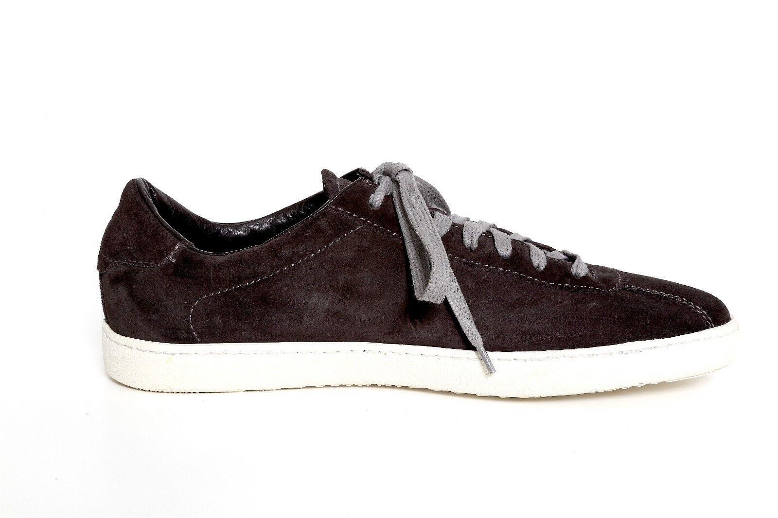Santoni Men's Suede Lace Up Sneakers 1949 Size 8D