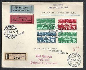 Switzerland covers 1932 R-Airmailcover / Geneve Conférence Désarmements