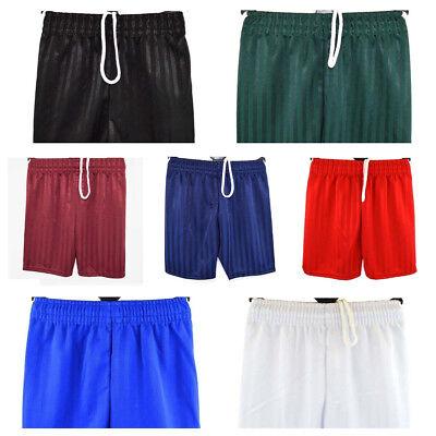 PE Gym Sports Football Games Shorts Boys Girls Children Shadow Stripe School Pe
