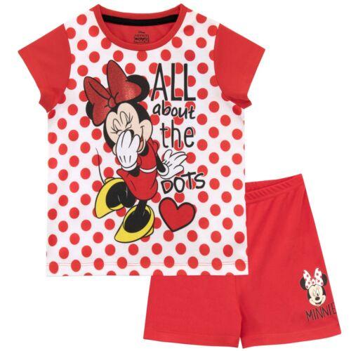 Disney Minnie Mouse PyjamasKids Disney Short PJsGirls Minnie Mouse Pyjama