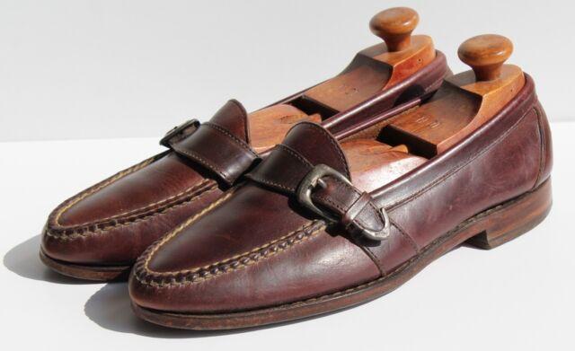 Polo by Ralph Lauren 10 D Gentleman's Dark Brown Monkstrap Slip-On Loafers - USA