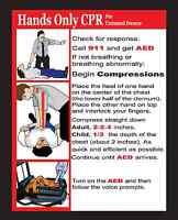 Hands Only Cpr And Choking Pocket Reference Cards Lot Of 100 2015 Guidelines