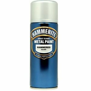 NEW-HAMMERITE-DIRECT-TO-RUST-METAL-PAINT-HAMMERED-SILVER-400ML-5084783