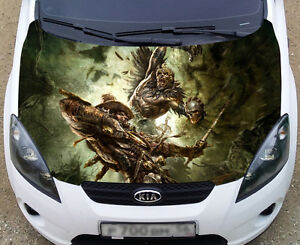 Full Color Graphic Adhesive Vinyl Sticker Fit Any Car Hood - Custom vinyl decals for car hoodssoldier full color graphics adhesive vinyl sticker fit any car