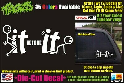 F-IT Sticker//Vinyl Decal Funny Car//Truck Window FREE Same Day Shipping!