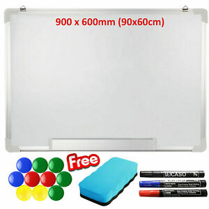 900-x-600mm-Magnetic-Dry-Wipe-Whiteboard-Home-School-Office-Drawing-Notice-Board