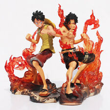 One Piece Monkey D. Luffy VS D. Ace Portgas 2 figures 2 Years Later PVC 15cm