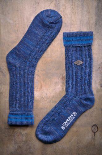2 Paires Homme Épais Coton Chunky Câble Tricot Hiver Chaud Robe Boot Chaussettes Farah