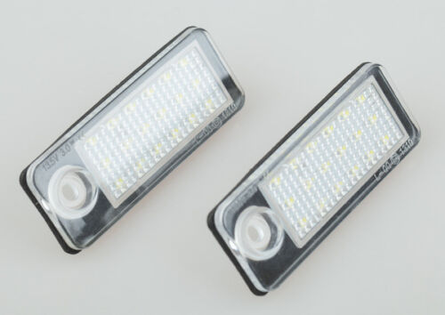 2x Error Free LED number License Plate Light For Audi A4 B5 Avant 99-01 A6 avant