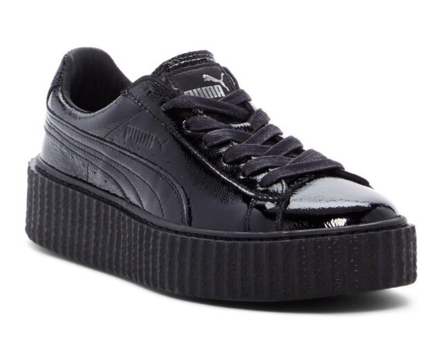 huge discount 83757 6b9fa PUMA X Fenty Rihanna Women Creeper Wrinkle Patent Leather Trainer Platform 9