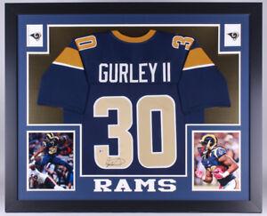a9359427f Todd Gurley LA Rams signed 35x43 Custom Framed Jersey Beckett COA ...