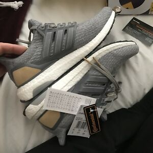 8ba0ab7c113c adidas Ultra Boost 3.0 LTD LUXURY Leather Cage GreySuede Uk 8 EU 42 ...