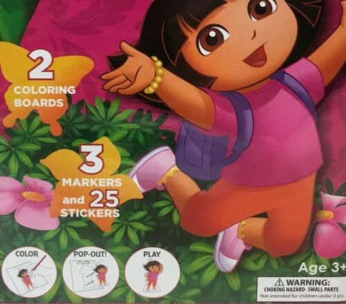 Nickelodeon Dora The Explorer Pop Outz Coloring Boards /& Stickers Grab Bag New