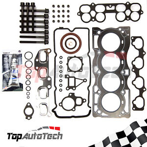 Vrs head gasket kit head boltssilicone for nissan x trail xtrail image is loading vrs head gasket kit head bolts silicone for solutioingenieria Gallery