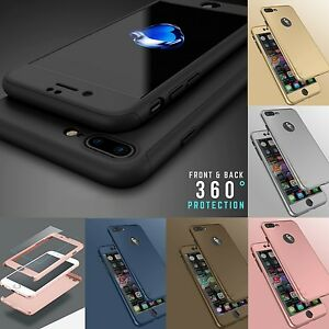 New-Hybrid-360-Hard-Thin-Case-Tempered-Glass-Cover-For-iPhone-6s-6-7-Plus
