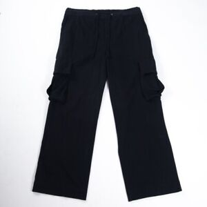 Standard-James-Perse-lounge-Cargo-Pants-100-Cotton-Relax-Fit-Drawstring-Black-1