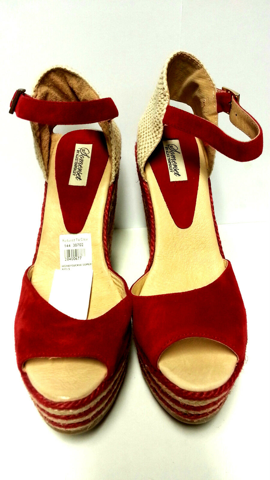 SOMERSET BY ALICE TEMPERLEY - HONEYSUCKLE - SUEDE ROT - HONEYSUCKLE SIZE 8 - 20+ F/BACK  BB250 071626