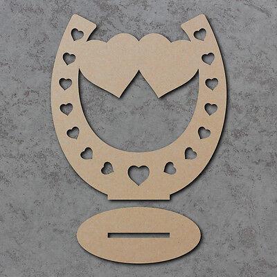 Zapato De Caballo independiente de Mesa de Boda Corazón Doble Decoración formas x6 (15cm)