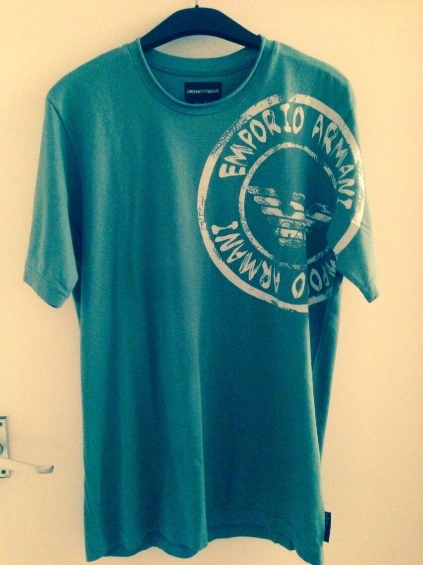 Mens Designer Emporio Armani T-shirt Small