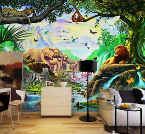 3D Animals Kingdom 84 Wall Paper Murals Wall Print Wall Wallpaper Mural AU Kyra