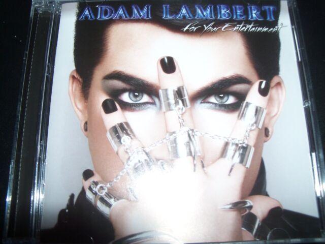 Adam Lambert For Your Entertainment (If I Had You & Whataya Want) CD - Like New