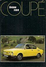 Skoda S110 R Coupe 1977-78 UK Market Sales Brochure