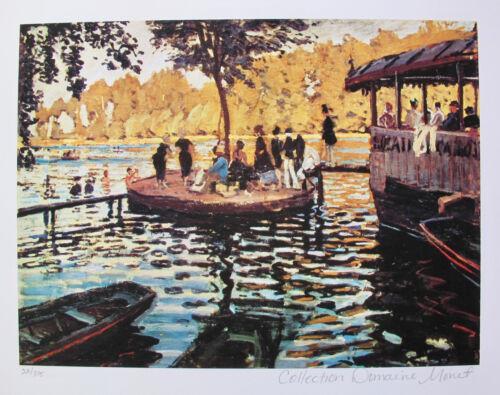 Claude Monet LA GRENOUVILLERE Estate Signed Limited Edition Small Giclee