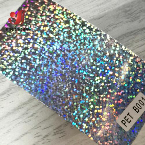 Silver Glitter Dot Hologram Heat Transfer Vinyl Iron-on T-Shirt Crafts DIY Film