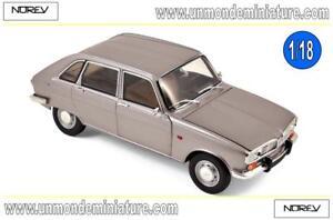 Renault-16-1968-Grey-Metallic-NOREV-NO-185133-Echelle-1-18