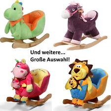 Knorr-Baby Schaukeltiere Sessel Plüsch Bär Hund Pony Biene Frosch Schaf Dino etc