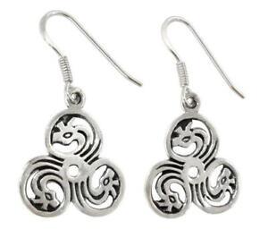 Tira Drachen Triskele Ohrhänger 925er Silber Symbol Schmuck - NEU