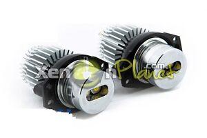 BMW-E90-E91-2005-2008-12W-LED-Angel-Eyes-Halo-Rings-Upgrade-Bulbs-Xenon-White