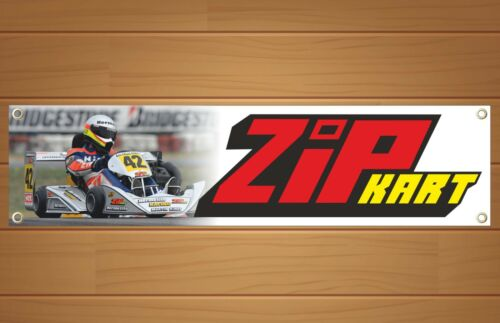 Zip KartRacingGo KartBanner Sign Garage WorkshopPVC SignRB004