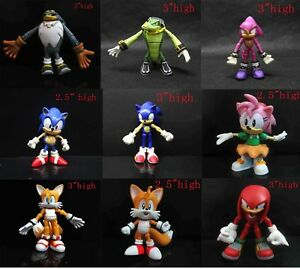 Sonic The Hedgehog Vector Espio The Chameleon Super Sonic Amy Tails Knuckles Ebay