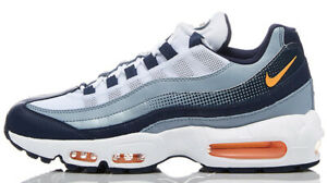 Details about Nike Air Max 95 SE Men Casual Shoes Midnight NavyLaser OrangeWhite AJ2018 401