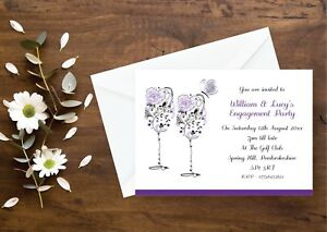Personalised Engagement Party Invitations All Colours